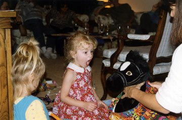 An earlier birthday girl also loved black horses.