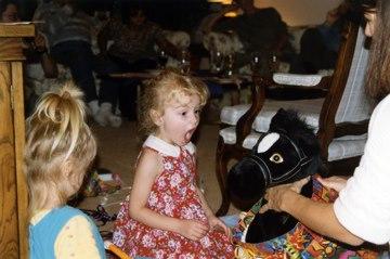 An earlier birthday girl also loved black horses.
